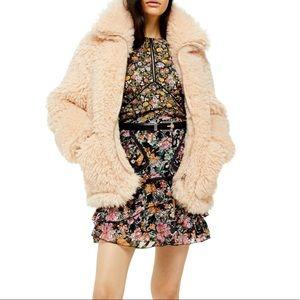 NWT Topshop Faux Fur Jacket